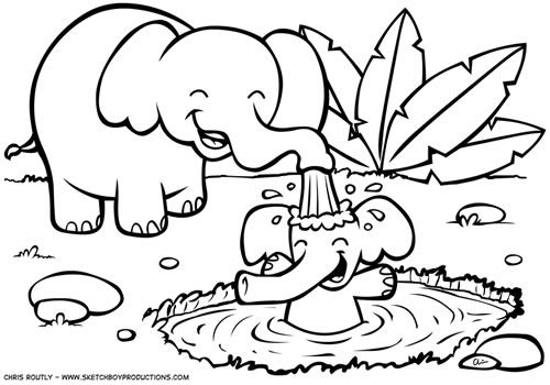 Jungle Color Pages Animal Coloring Pages On Pinterest