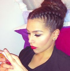 Double French Braid And Twist Braid Hairstyle Design Cool