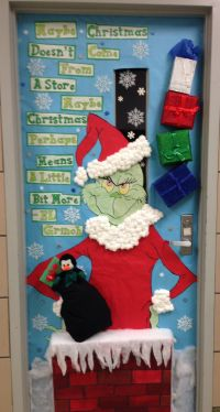 Cristmas door decorating.