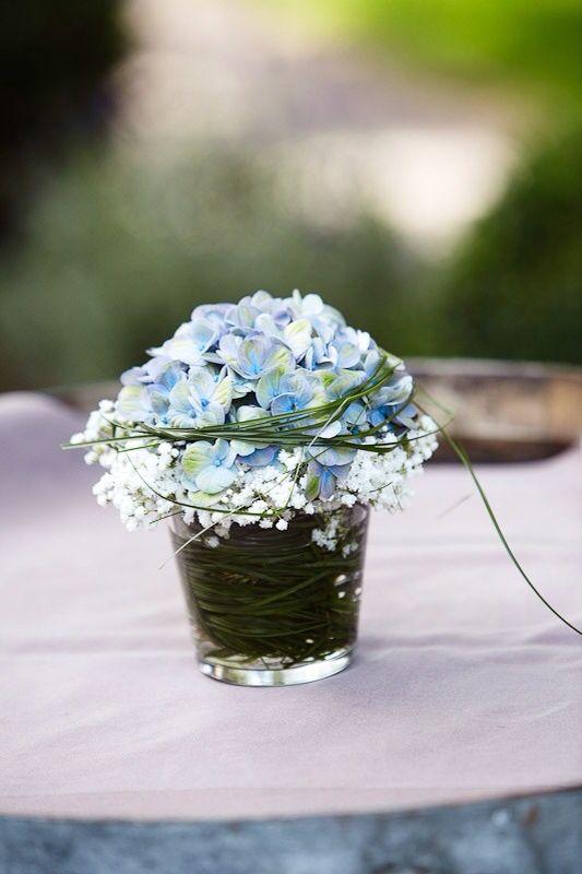 Hortensie flower decoration  Hochzeit Blumen  Pinterest