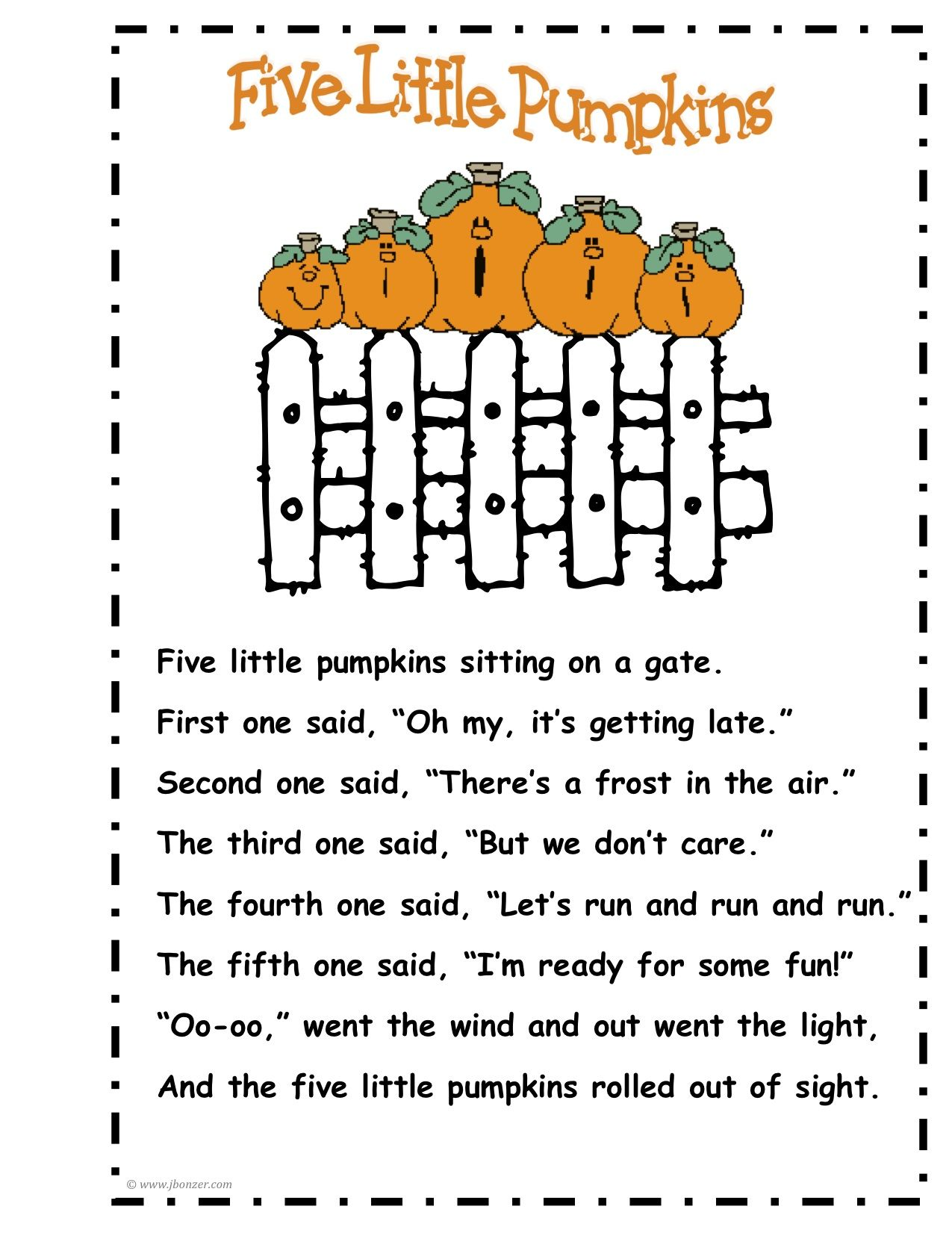 I Sing This With The Kids At My Preschool Amp They Love It Pumpkin Poetry