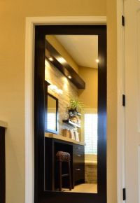 mirrored pocket door would be fab inside an walk in closet ...