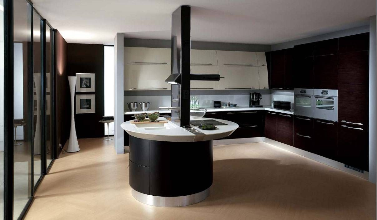 Contemporary Kitchen Design Pictures & Photos Black Chairs