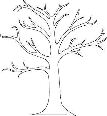Tree Trunk Template For Wall Murals