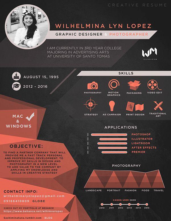 Creative Resume Templates Pinterest