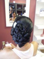bridal hair style vintage updo