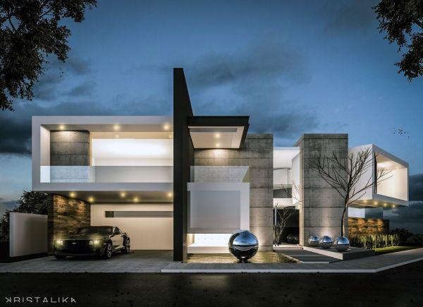 & House #architecture #modern #facade #contemporary #