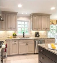 Taupe Kitchen Cabinets Love the dark stain color on the ...