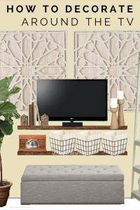 Creative ways to decorate around the TV.   Living Room ...