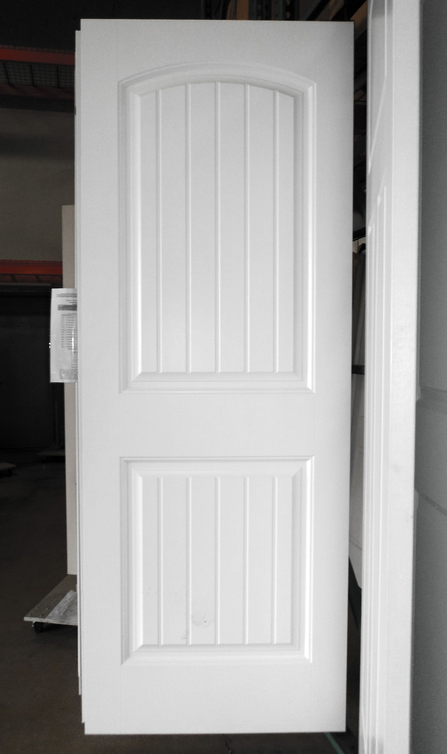 2 Panel Painted White Cheyenne Smooth Masonite Hollow Core
