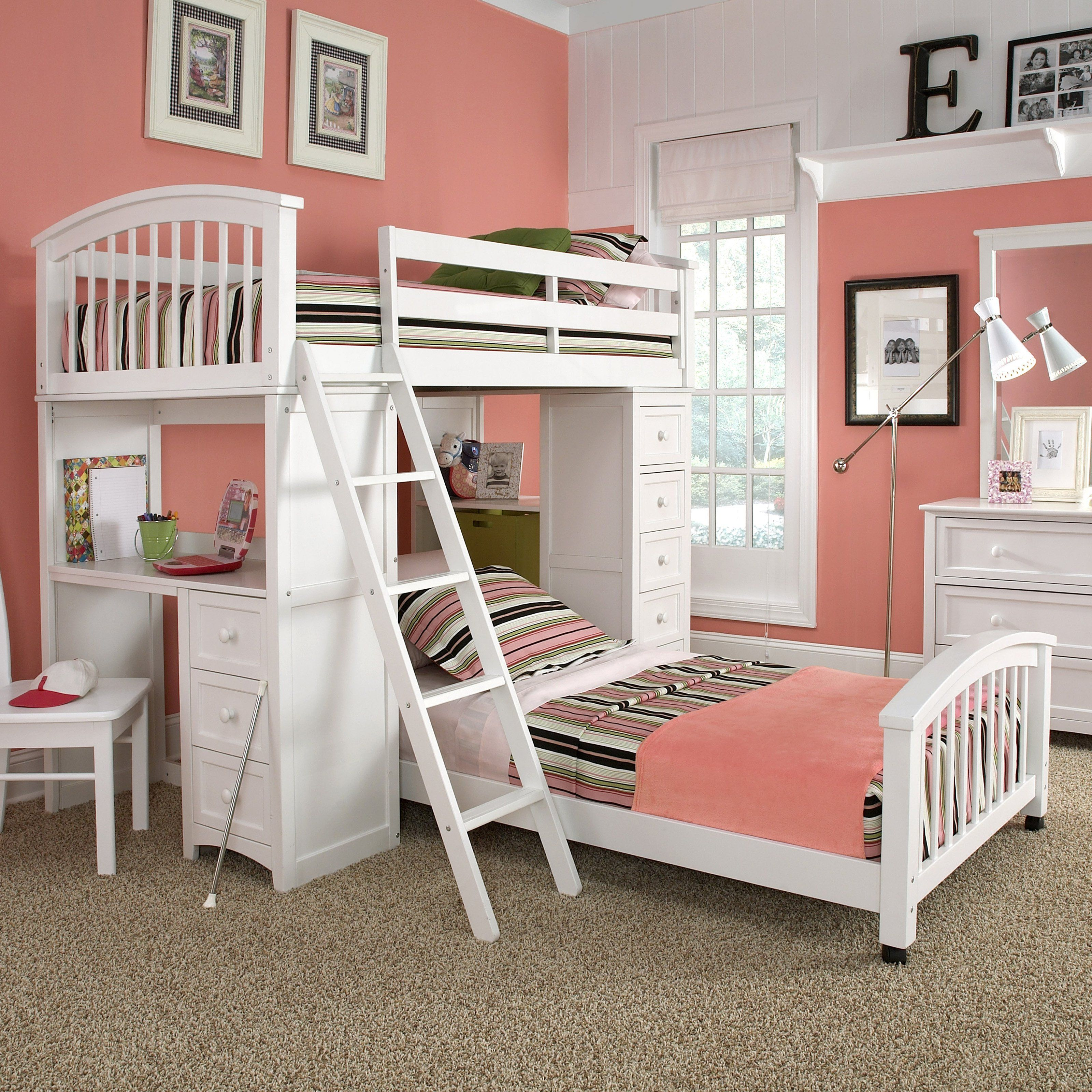 schoolhouse student loft bed white