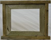 Rustic barn wood picture frame | wall covers | Pinterest ...