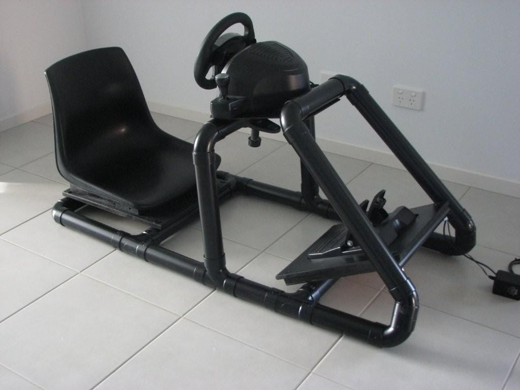 racing simulator chair plans chaise lounge chairs sale create gaming car frame with pvc pipimg easiest