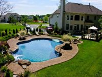 Pool Town NJ inground swimming pools with pool landscaping ...