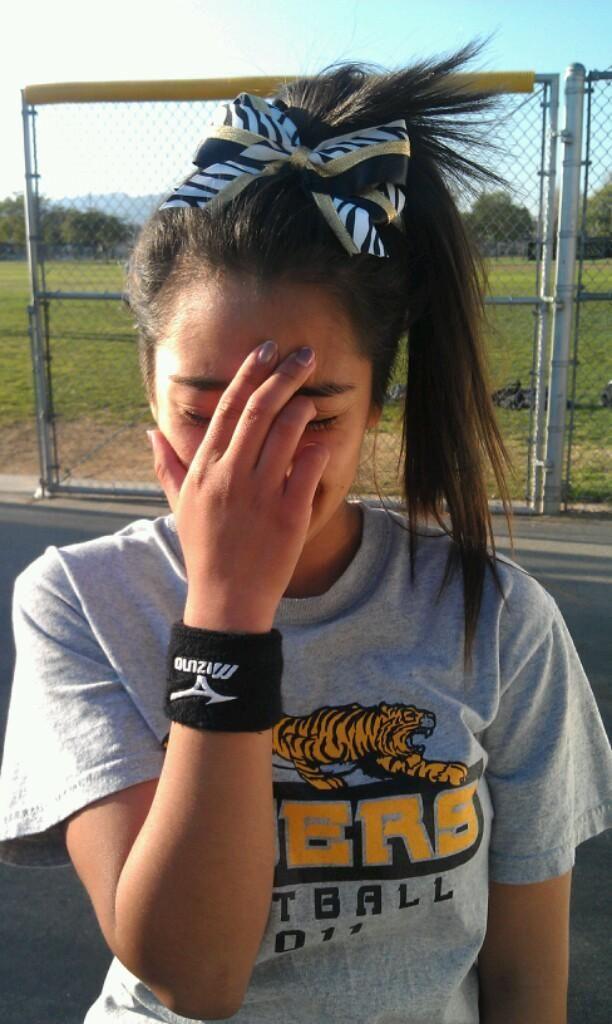Softball Hair! This Was My Maddy's Hair Last Week! Super Cute