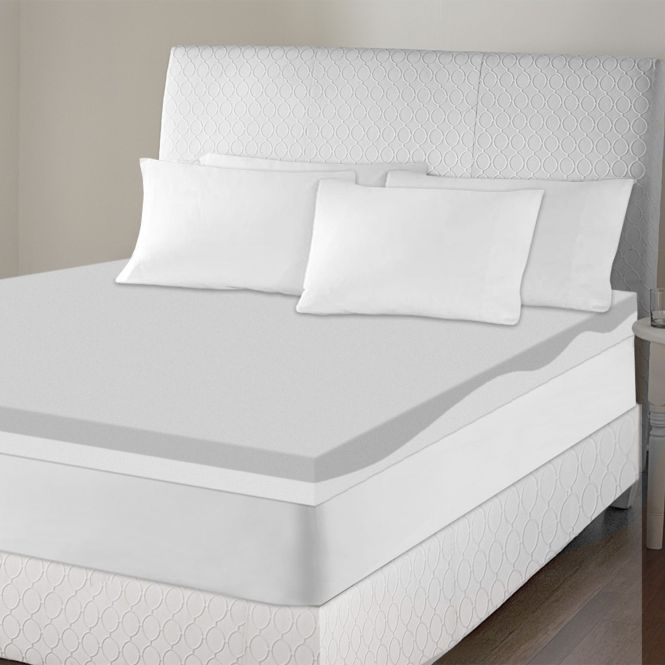 Usa Sinomax Sleep 4 Inch Contour Memory Foam Mattress Topper Blue