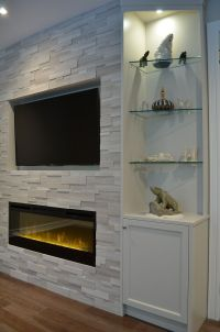 17+ Modern Fireplace Tile Ideas, Best Design | Stone ...