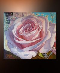 Flower Rose Large wall art Canvas Oil Painting Original ...