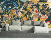Abstract Graffiti Art Wall Mural | Eazywallz | ICFI New ...