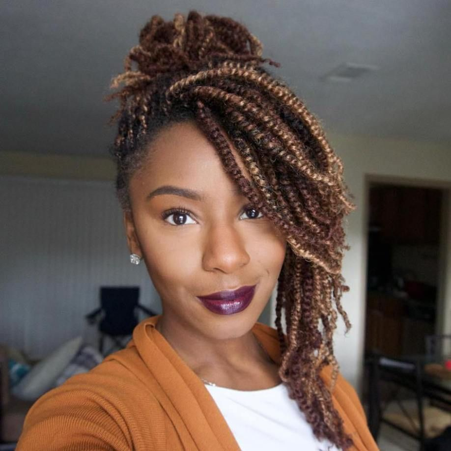 30 Hot Kinky Twists Hairstyles to Try in 2017  Light browns Brown and Hair style