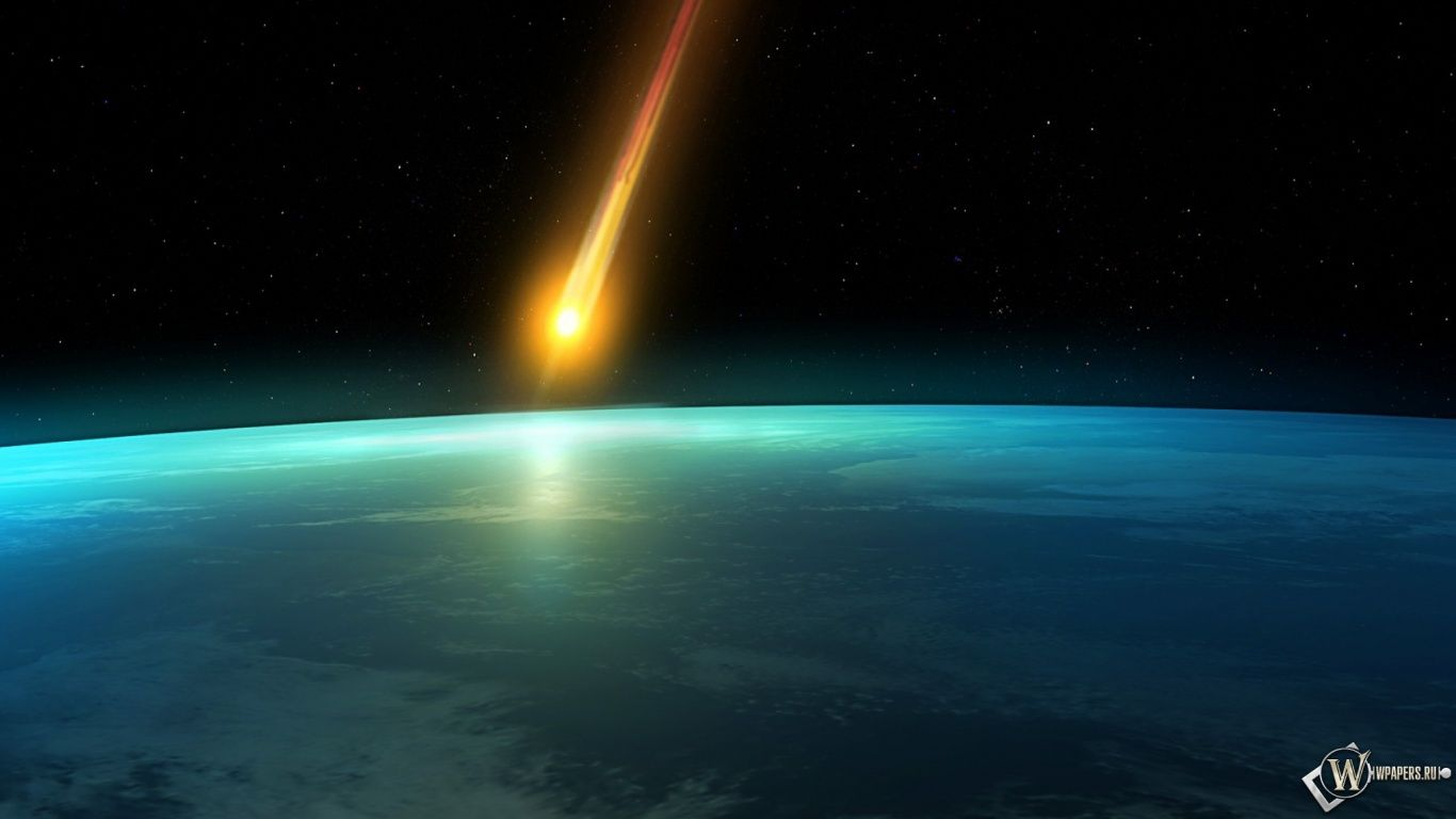 Meteors Falling Wallpaper Meteor Space Earth Meteorite Fall Hd Wallpapers 1366x768