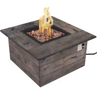 Galleon Stainless Steel Propane Fire Pit Table | Gas fire ...