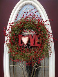 "Valentine's Day Grapevine Door Wreath Decor..""Love Berries ..."