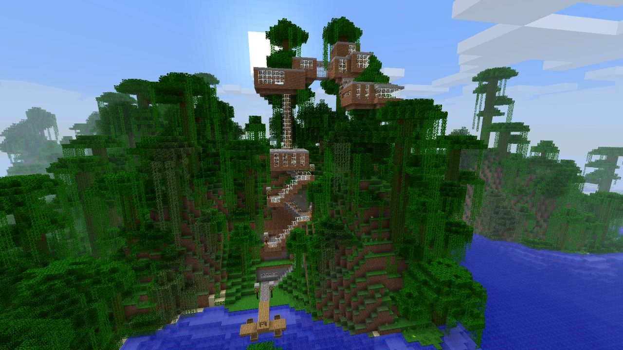Minecraft Treehouse Blueprintsviewing Gallery For Minecraft