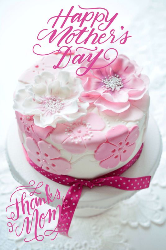 mothers day cake flower cake pink cake rose cake