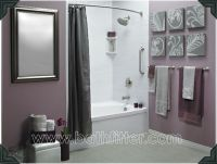 Love the grey and purple together!! Could DIY some artwork ...