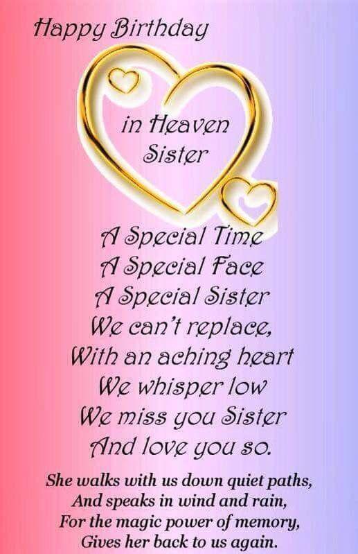 Sister Happy My Heaven Birthday Quotes