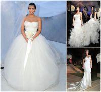 Wedding News: Kim Kardashian's wedding dresses. Kim ...