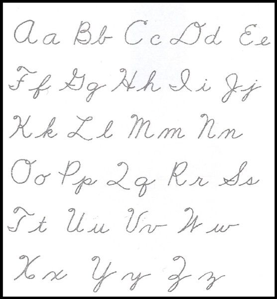 Article about why we should teach cursive first, then