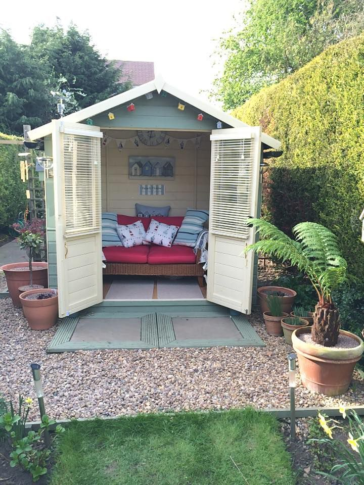 7 X 5 Waltons Bournemouth Wooden Summerhouse Doors Summer House