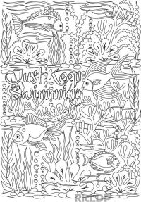 Printable 'Just Keep Swimming' under the sea design ...