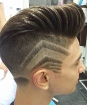sleek undercut with side patterns