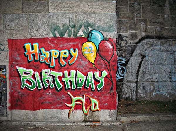 Gambar Graffiti Happy Birthday Black White Cool Gambar