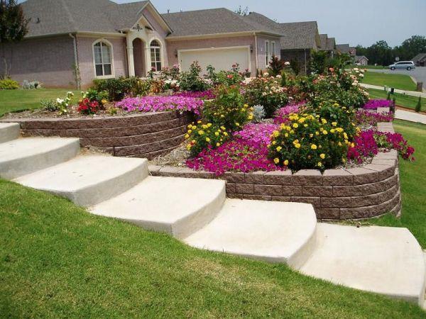 sloped yard landscaping