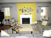 Yellow and grey living room...beautiful!