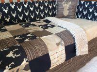 Crib or Toddler Bed Set -Woodland Nursery- Navy, Tan ...