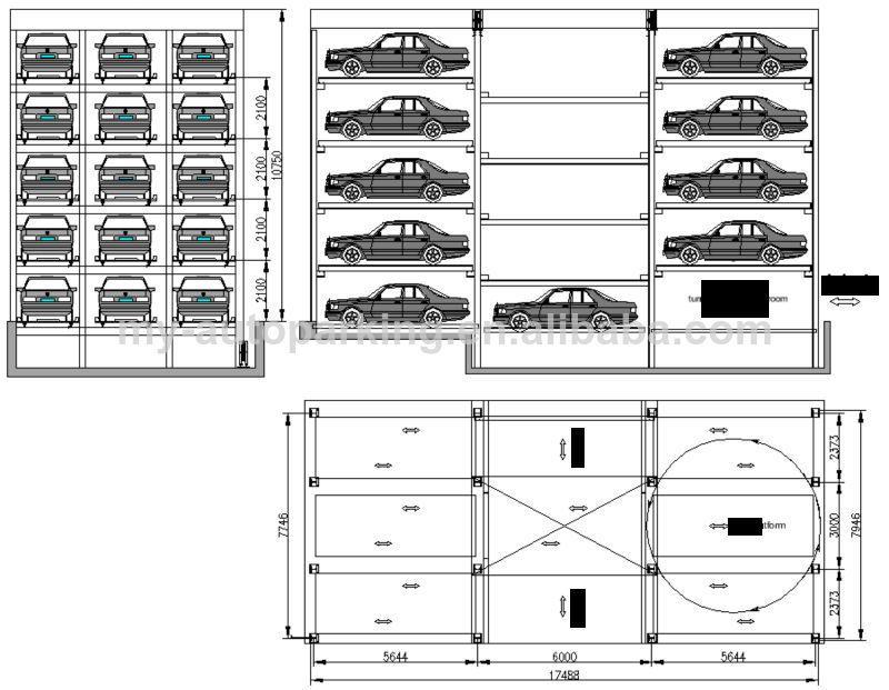 PLC Control Car Parking System Garage Parking System