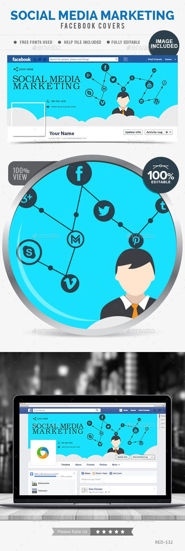 Social Media Marketing Facebook Cover. Psd Templatesfacebook  Timelinetimeline