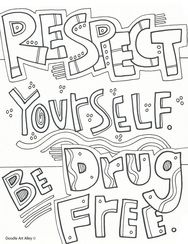 Alcohol Drug Recovery Pages Coloring Pages