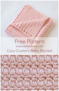 Cozy Clusters Free Crochet Baby Blanket Pattern | sewing ...