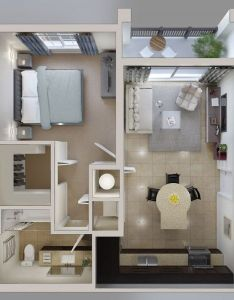 One bedroom apartment floor plan also flawhs  csmallrooms   floorplan   perfect rh pinterest