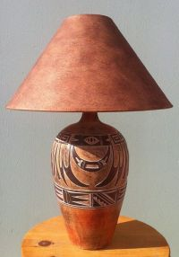 Indian Marigold, Southwest Table Lamp ACH-6182 | Mexican ...
