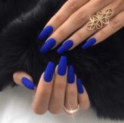 matte blue . people
