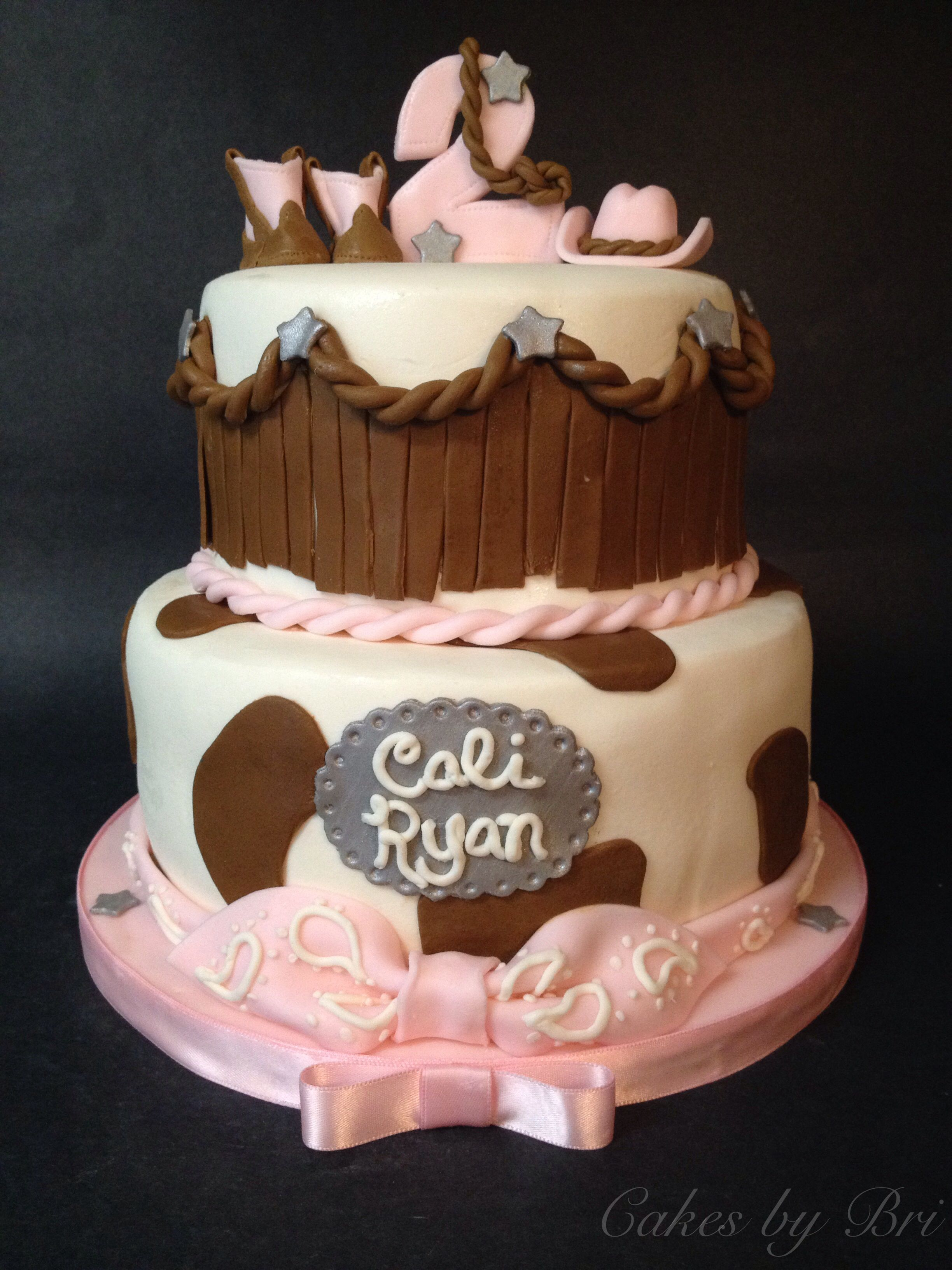 Pink Cowgirl Themed Birthday Cake! Cowgirl Boots Cowgirl