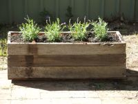 Planter box made from fence palings | Rethink reuse ...