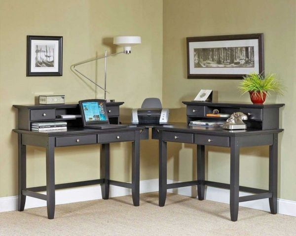 home office computer desks for two people 2 Person Corner Desk … | Pinteres…
